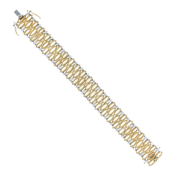 18KT GOLD SMALL BRACELET WITH DIAMONDS