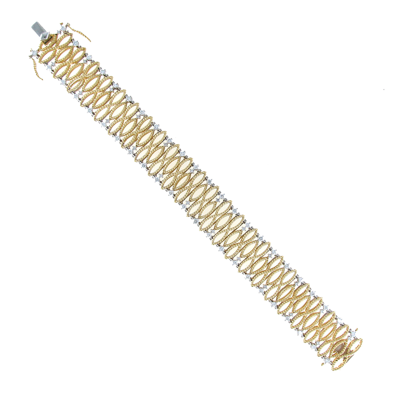 Roberto Coin 18KT GOLD SMALL BRACELET WITH DIAMONDS
