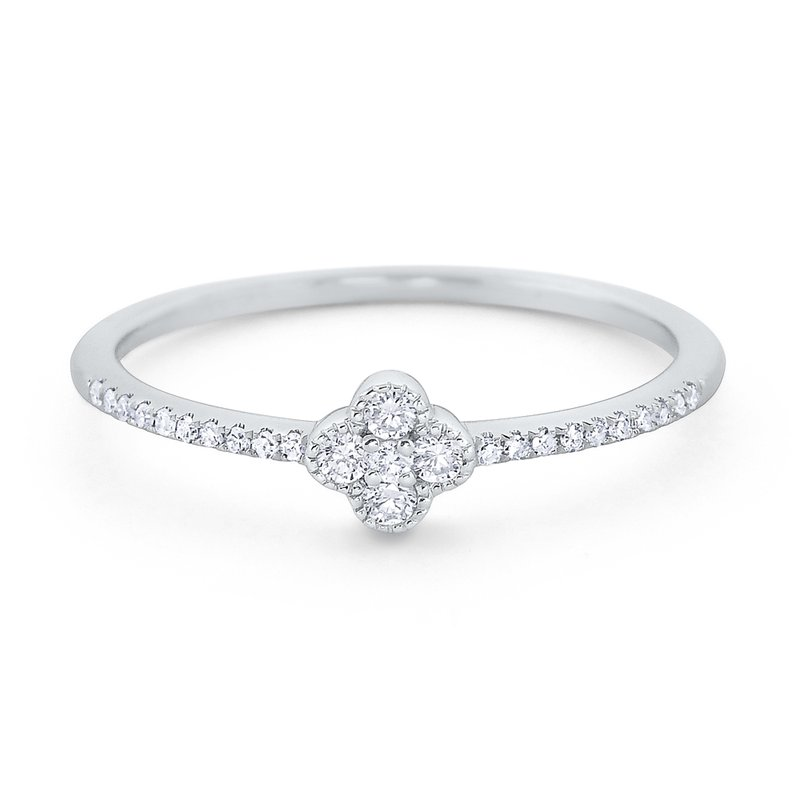 KC Designs Diamond Clover Ring Set in 14 Kt. Gold