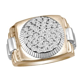 14K 1.00Ct Diam Mens Ring