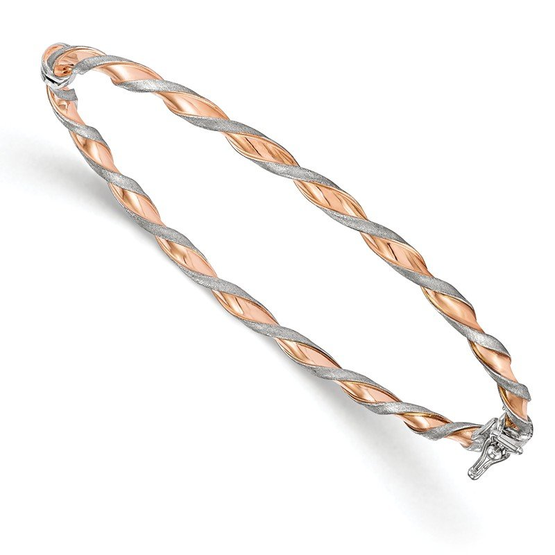 Leslie's Leslie's 14K White Gold w/Rose-tone Twisted Bangle