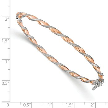 Leslie's 14K White Gold w/Rose-tone Twisted Bangle