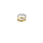 Roberto Coin 18KT YELLOW AND WHITE GOLD 2 ROW DIAMOND RING