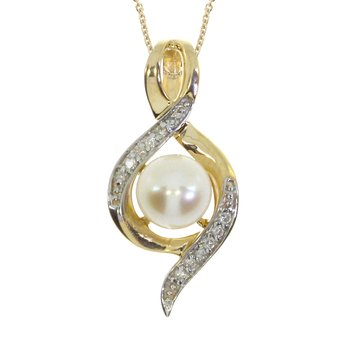 14k Yellow Gold Freshwater Cultured Pearl Fashion Pendant