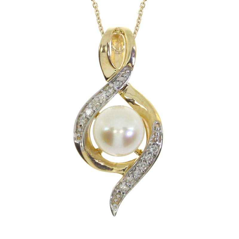 Color Merchants 14k Yellow Gold Freshwater Cultured Pearl Fashion Pendant