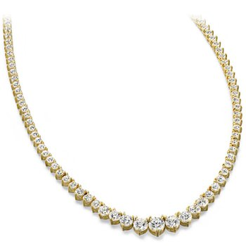 Three Prong Diamond Necklace