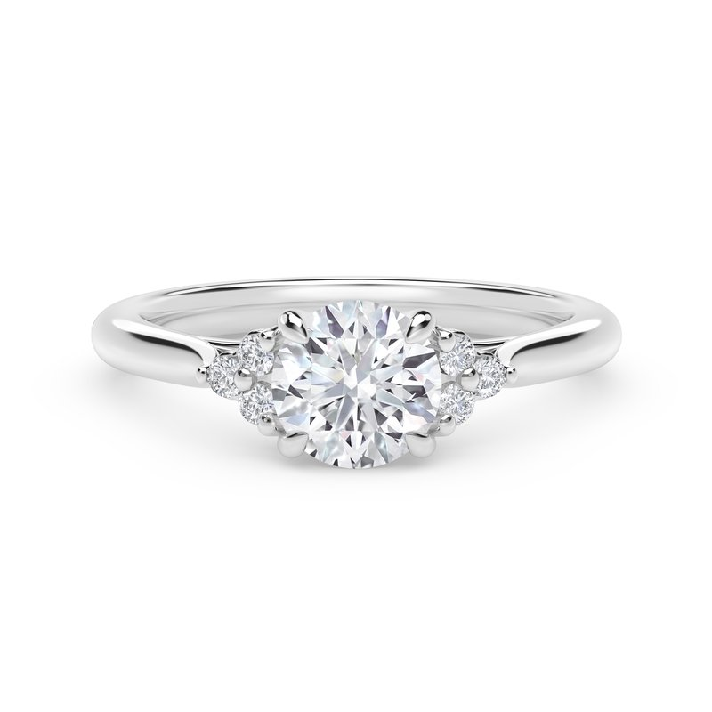 Forevermark Engagement and Commitment Forevermark Accent™ Engagement Ring with Triple Sides
