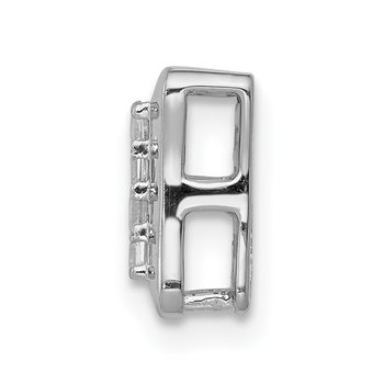 14k White Gold 1/4ct. Diamond Square Cluster Chain Slide