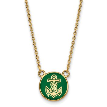 Gold-Plated Sterling Silver Alpha Sigma Tau Greek Life Necklace