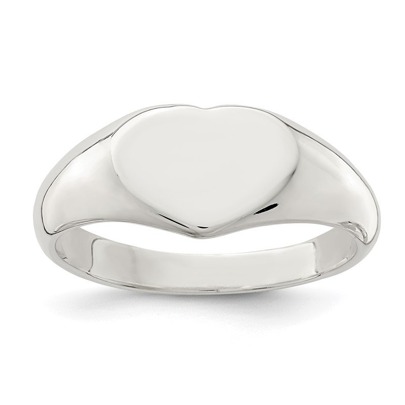 Quality Gold Sterling Silver Heart Signet Ring