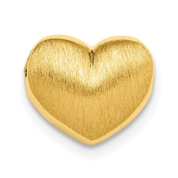 Sterling Silver Gold-plated Scratch Finish Heart Chain Slide