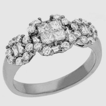 White Gold Diamond Ring