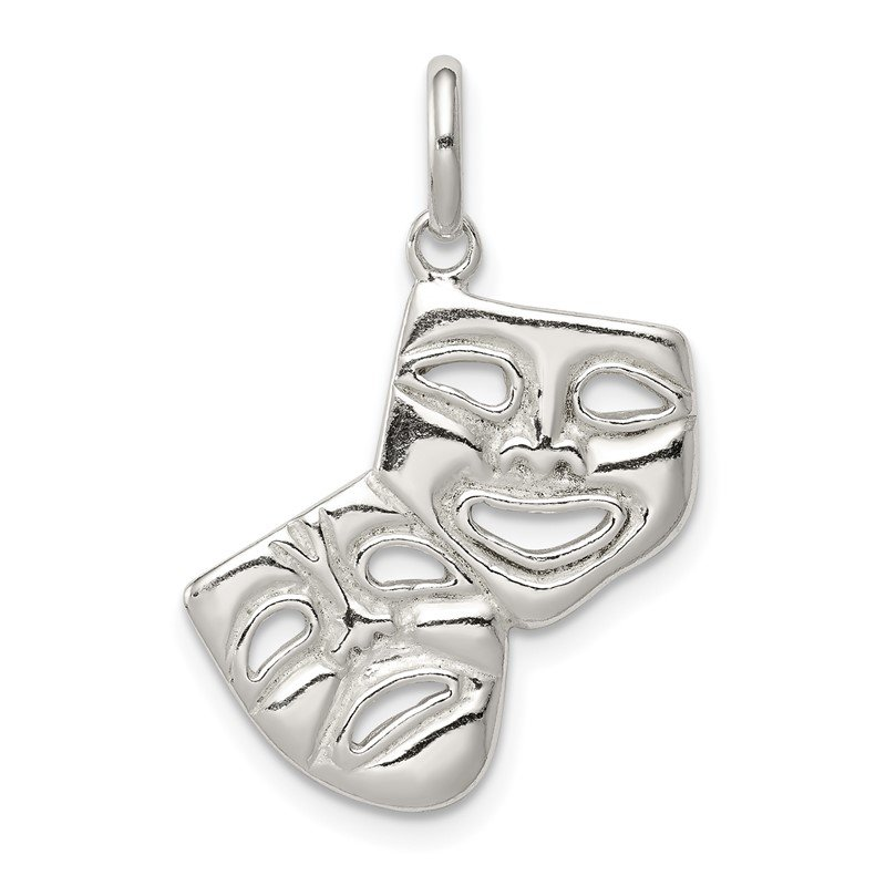 Quality Gold Sterling Silver Comedy/Tragedy Charm