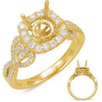 Yellow Gold Halo Engagem