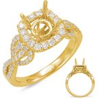 MAZZARESE Bridal Yellow Gold Halo Engagem