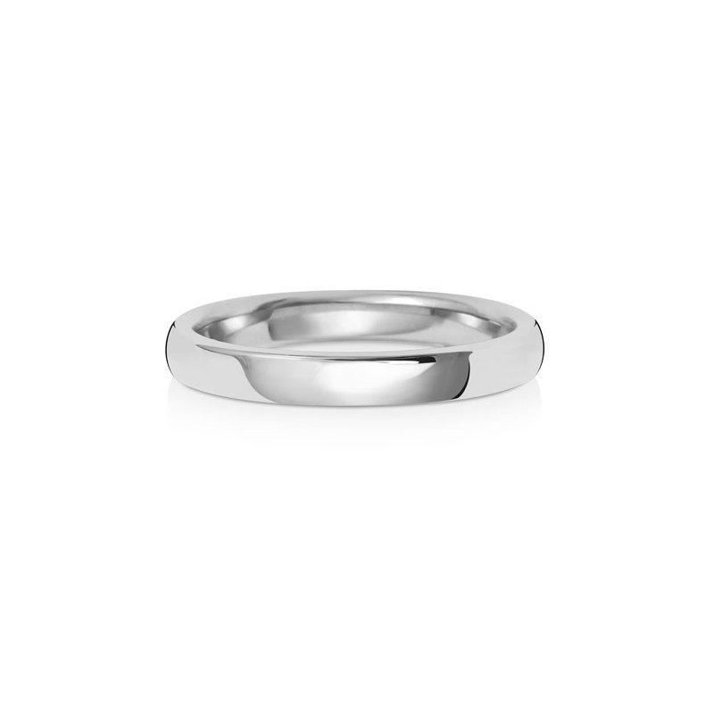 Treasure 9Ct White Gold 2.5mm Soft Court Wedding Ring