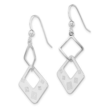 Sterling Silver Polished Geometric Dangle Earrings