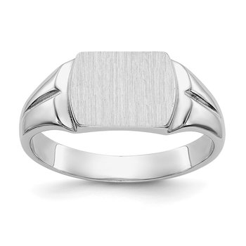 14kw 8.0x10.5mm Closed Back Signet Ring