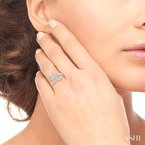 ASHI silver arrow diamond ring