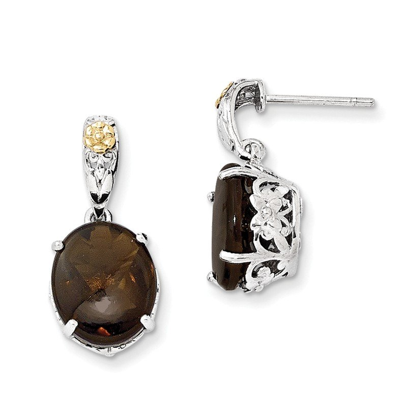 Shey Couture Sterling Silver w/14k Smoky Quartz Earrings