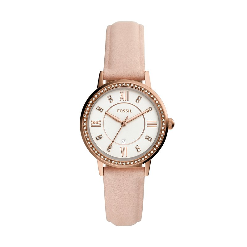 Fossil Gwen Three-Hand Date Nude Leather Watch
