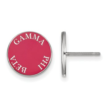 Sterling Silver Gamma Phi Beta Greek Life Earrings
