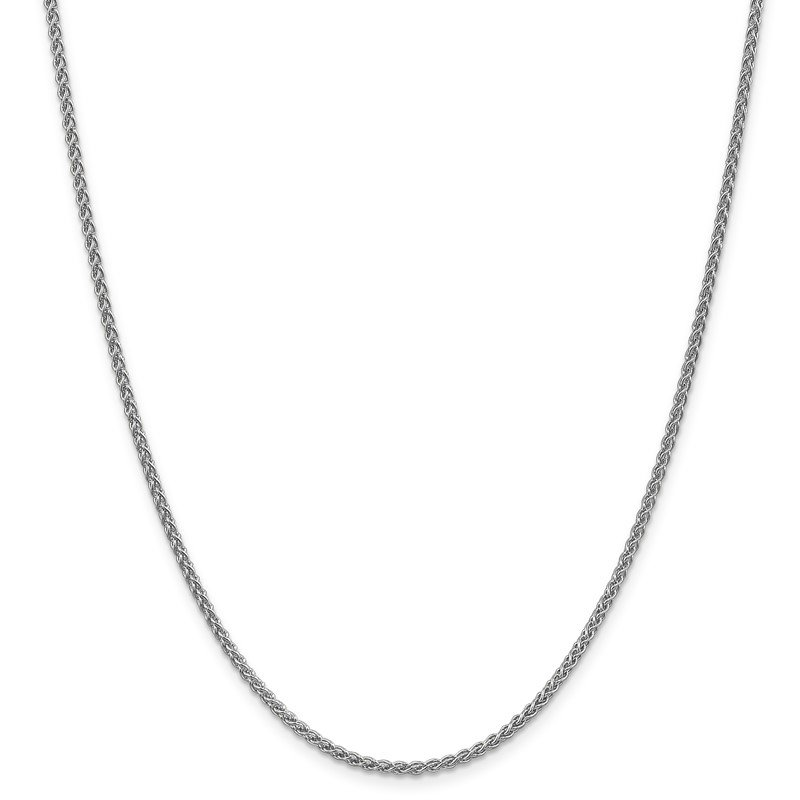 Leslie's Leslie's 14K White Gold 2.1mm Spiga (Wheat) Chain