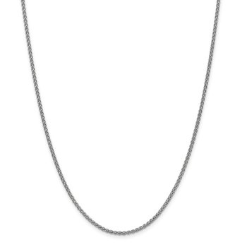Leslie's 14K White Gold 2.1mm Spiga (Wheat) Chain