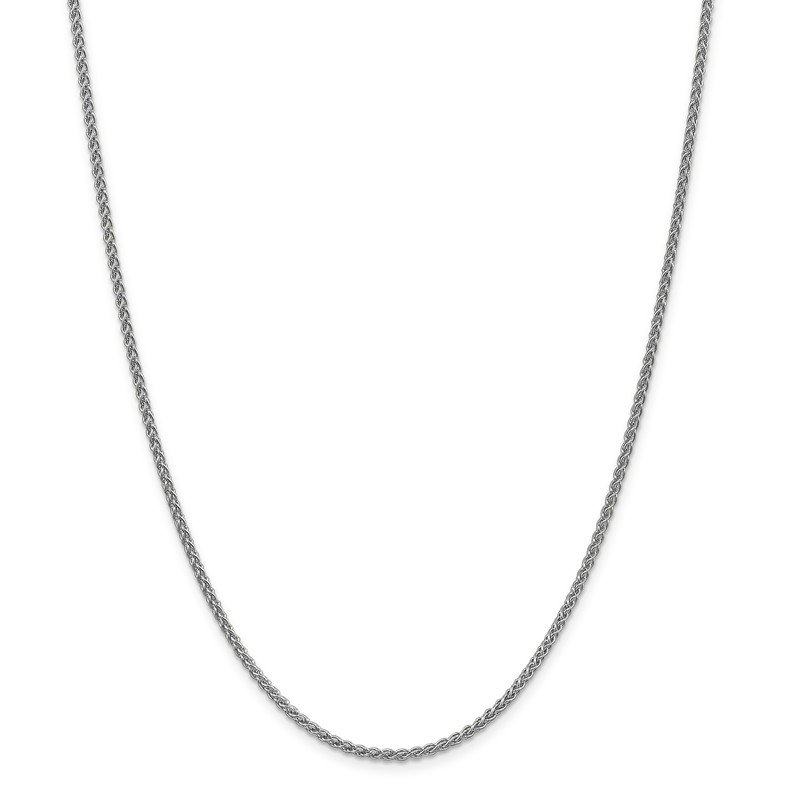Leslie's Italian Gold Leslie's 14K White Gold 2.1mm Spiga (Wheat) Chain