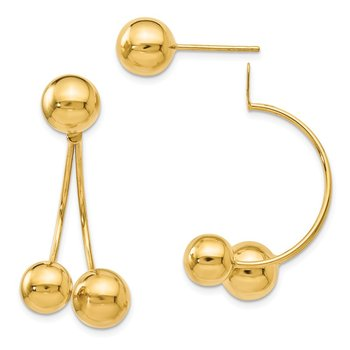 Leslie's 14k Tri Ball Post Gold Earrings