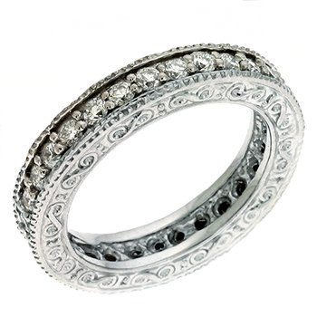 Etched Eternity Band