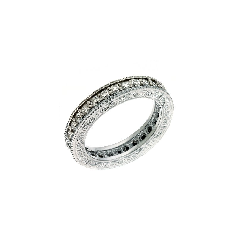 S. Kashi & Sons Bridal Etched Eternity Band