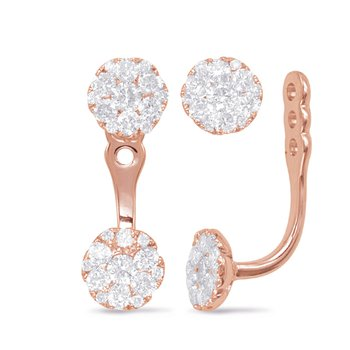 Rose Gold Diamond Ear Jackets