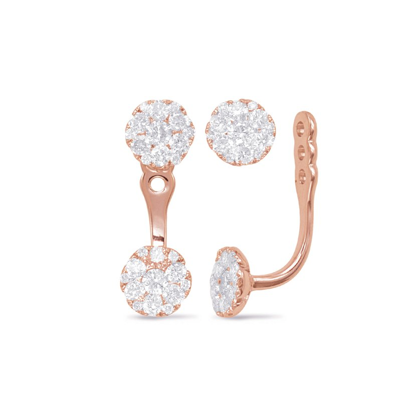 S. Kashi  & Sons Rose Gold Diamond Earring Jackets