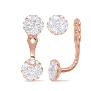 Rose Gold Diamond Earring Jackets