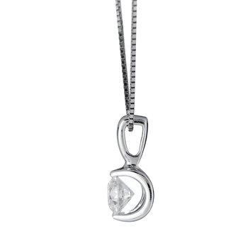 14K WG Diamond  'Deep Love' Pendant