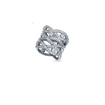 Cento Pave Baci Three Row Eternity Band