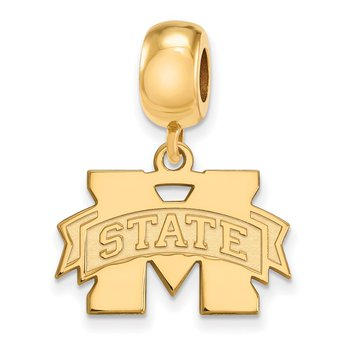 Gold-Plated Sterling Silver Mississippi State University NCAA Bead