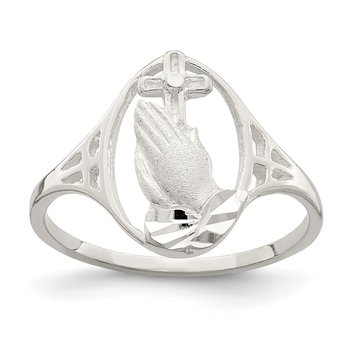 Sterling Silver Religious Ring