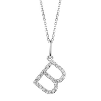 14K Diamond Initial on a 18 inch chain