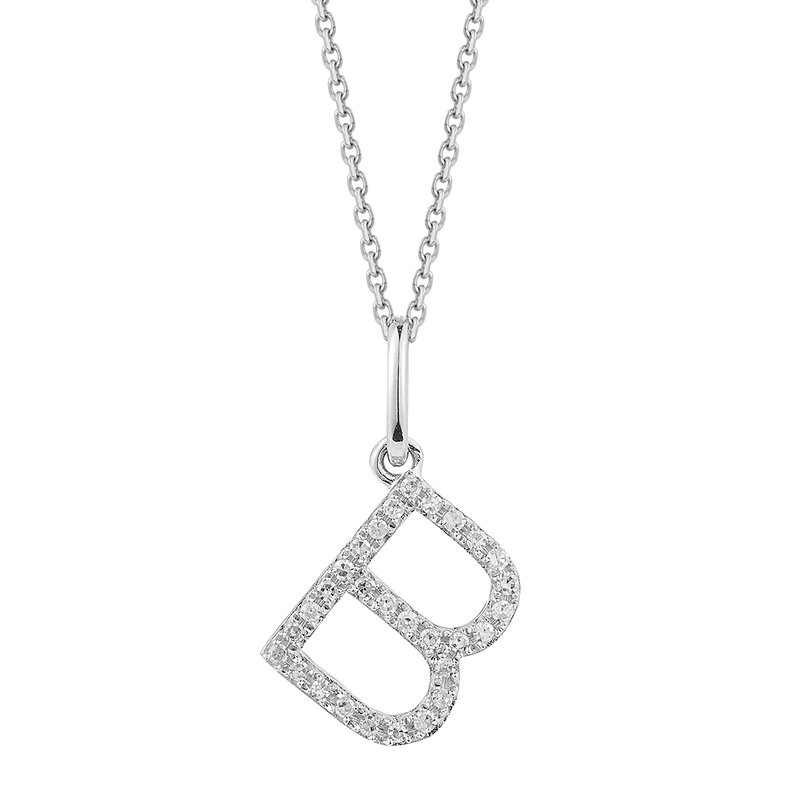 Shula NY 14K Diamond Initial on a 18 inch chain