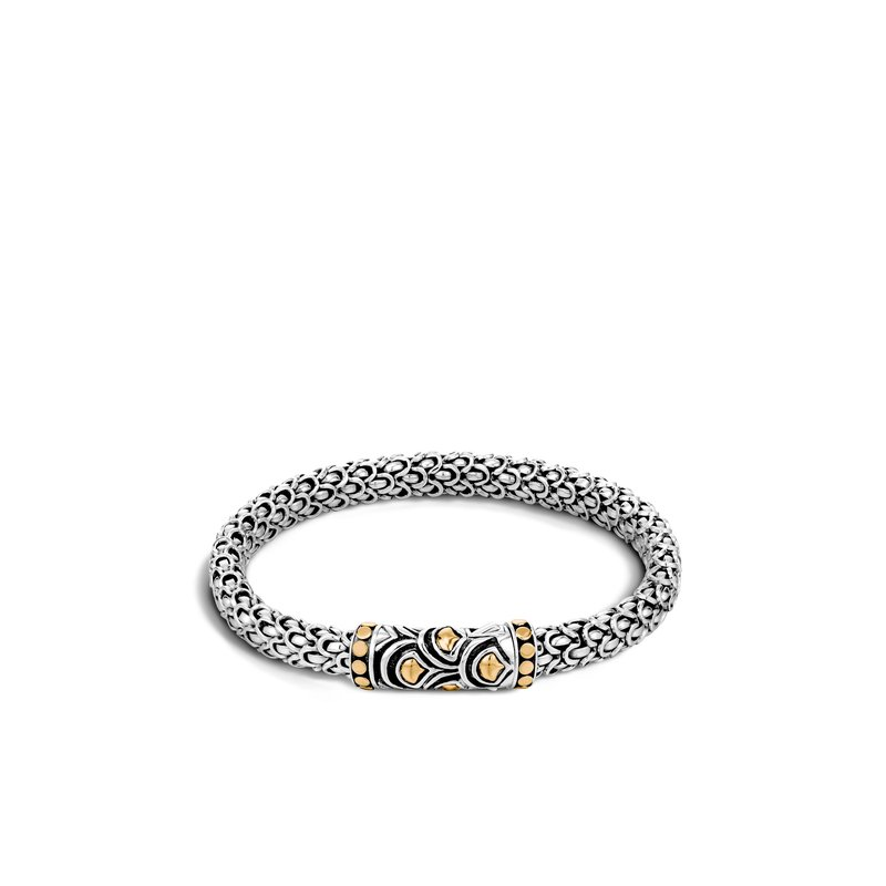 JOHN HARDY Legends Naga 6MM Station Bracelet in Silver and 18K Gold