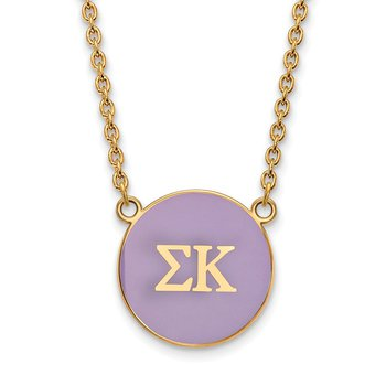 Gold-Plated Sterling Silver Sigma Kappa Greek Life Necklace
