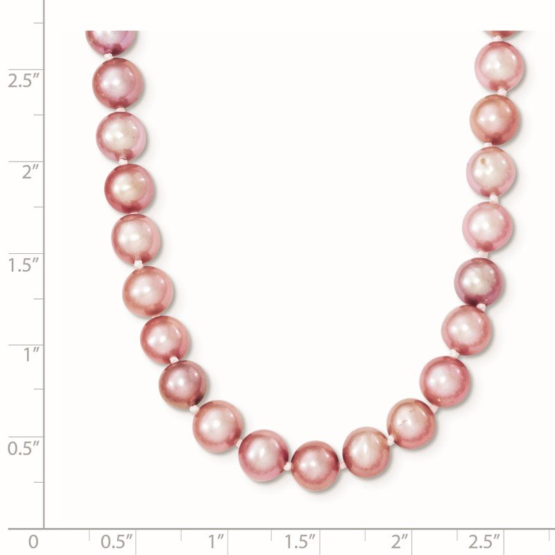 Quality Gold Sterling Silver Rhodium-plated 6-7mm Purple FWC Pearl Necklace