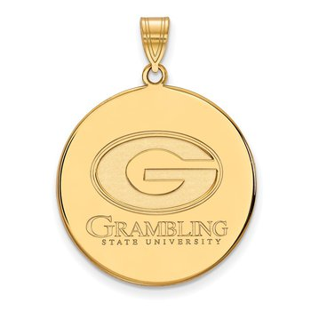 Gold-Plated Sterling Silver Grambling State University NCAA Pendant