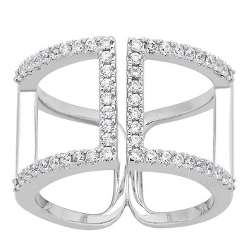 14KW 3/8CTW RIGHT HAND FASHION RING