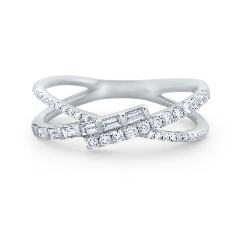 KC Designs Diamond Mosaic Criss Cross Ring Set in 14 Kt. Gold