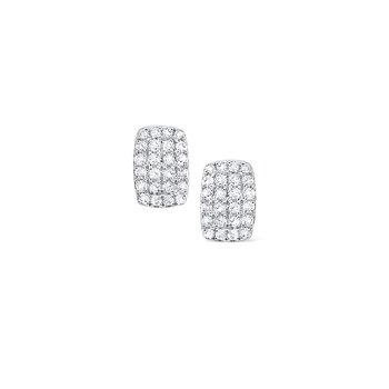 Diamond Pavé Stud Earrings Set in 14 Kt. Gold