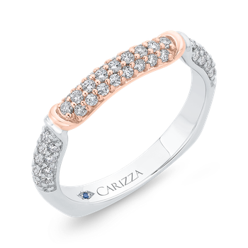 14K Two-Tone Diamond Wedding Band