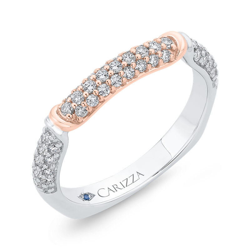 Carizza 14K Two-Tone Diamond Wedding Band